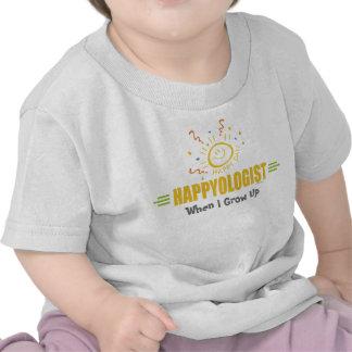 Cara feliz chistosa de la sonrisa camiseta