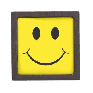Cara feliz clásica cajas de recuerdo de calidad