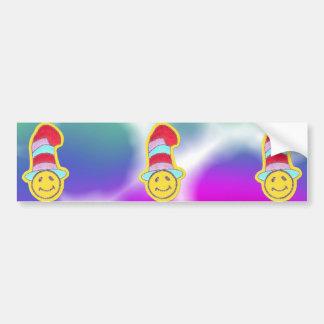 Cara feliz colorida del smiley del Hippie Pegatina Para Auto