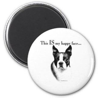 Cara feliz de Boston Terrier - imán