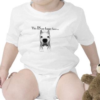 Cara feliz de Dogo Traje De Bebé