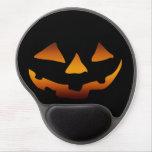 Cara feliz de la calabaza de Halloween Alfombrilla De Raton Con Gel