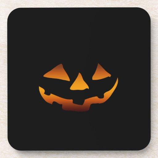 Cara feliz de la calabaza de Halloween Posavaso