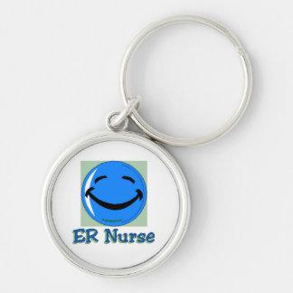 Cara feliz de la enfermera del ER Llaveros Personalizados