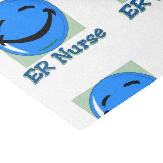 Cara feliz de la enfermera del ER Papel De Seda Pequeño