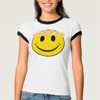 Cara feliz de la margarita del Hippie Playera