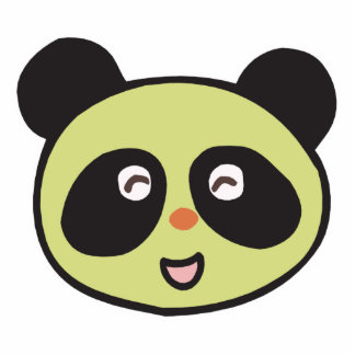 cara feliz de la panda del bebé escultura fotográfica