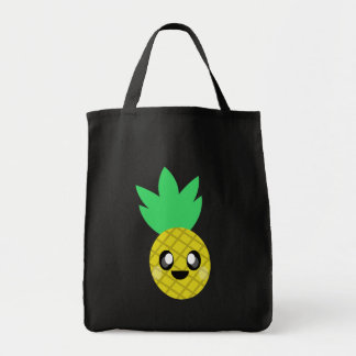cara feliz de la piña del kawaii bolsas