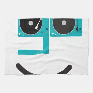 Cara feliz de la placa giratoria toallas
