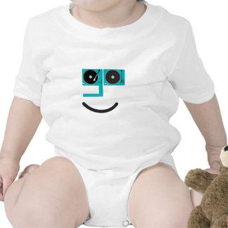 Cara feliz de la placa giratoria camisetas