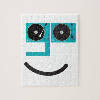 Cara feliz de la placa giratoria puzzle
