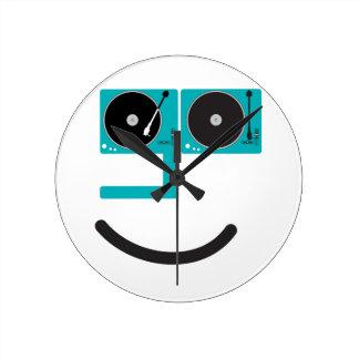 Cara feliz de la placa giratoria relojes