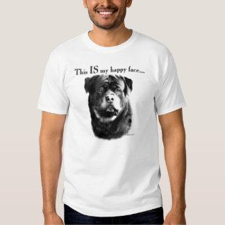 Cara feliz de Rottweiler Poleras
