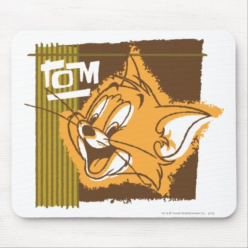 Cara feliz de Tom Alfombrillas De Ratón