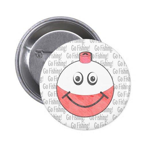 Cara feliz del Bobber Pin Redondo 5 Cm