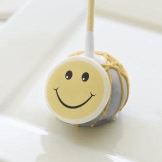 Cara feliz del cumpleaños amarillo lindo adorable