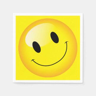 Cara feliz del Emoticon sonriente alegre del Servilleta Desechable