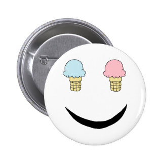 Cara feliz del helado pins