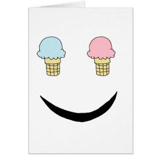 Cara feliz del helado felicitacion