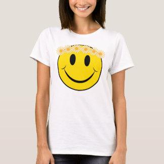 Cara feliz del Hippie Playera