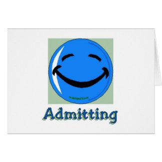 Cara feliz del hospital que admite tarjeta de felicitación