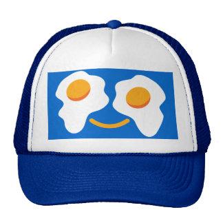 Cara feliz del huevo gorras