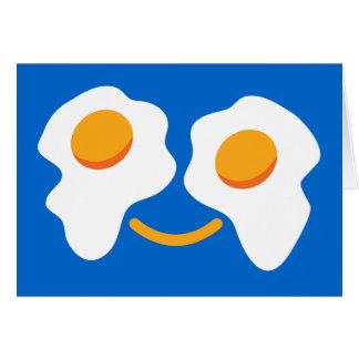 Cara feliz del huevo tarjeta de felicitación