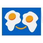 Cara feliz del huevo tarjetas