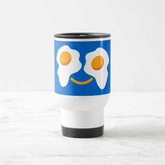 Cara feliz del huevo taza de viaje