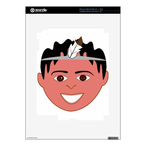 Cara feliz del muchacho skins para eliPad 2