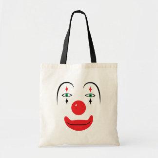Cara feliz del payaso bolsa tela barata