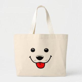 Cara feliz del perrito bolsa