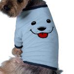 Cara feliz del perrito camisa de mascota