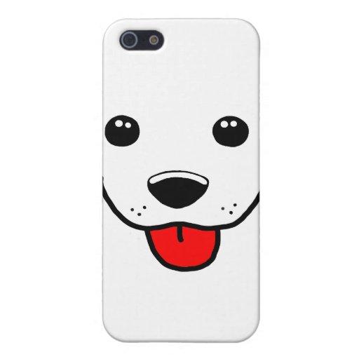 Cara feliz del perrito iPhone 5 carcasa