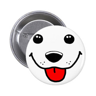 Cara feliz del perrito pin