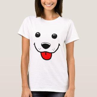 Cara feliz del perrito playera