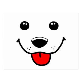 Cara feliz del perrito tarjeta postal
