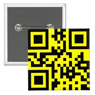 Cara feliz del ☺ sonriente -- Código de QR Pin Cuadrada 5 Cm