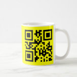 Cara feliz del ☺ sonriente -- Código de QR Tazas De Café