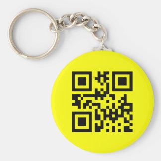 Cara feliz invertida smiley del ☻ -- Código de QR Llavero Redondo Tipo Pin
