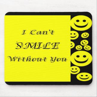 Cara feliz/música de la sonrisa tapete de raton