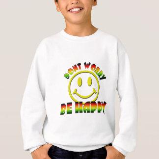 Cara feliz - no se preocupe sea colores felices de sudadera