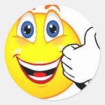 Cara feliz pegatina redonda
