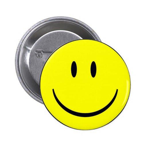 Cara feliz pin redondo 5 cm