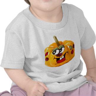 Cara feliz pintada de la calabaza camiseta