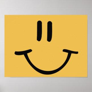 Cara feliz póster
