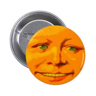 Cara feliz sonriente de la sol de Sun alegre Pin