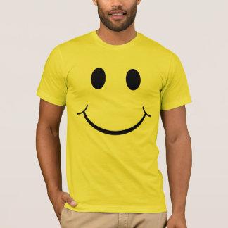 Cara feliz sonriente de los años 70 clásicos playera