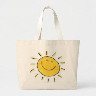 Cara feliz Sun - bolso Bolsa Tela Grande