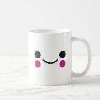 Cara feliz taza de café